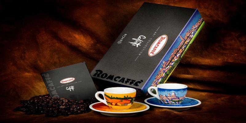 Romcaffè Art Collection realizzata insieme a Stefano Calisti il mago del colore