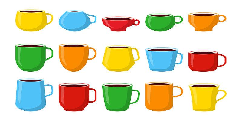 tazzina da caffè espresso con forme e colori diversi