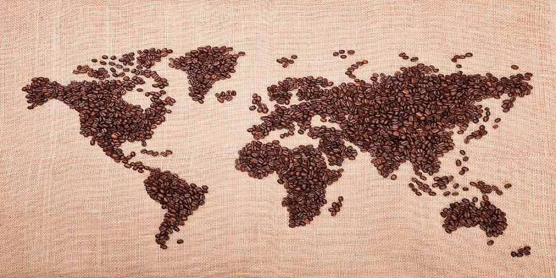 filiera del caffè e consumo di caffè espresso nel mondo. cartina mondo caffè